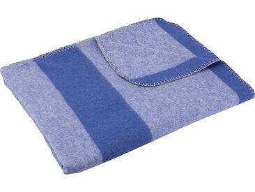 SETEX Wohndecke Kuscheldecke, mit Streifen B/L: 150 cm x 200 blau Baumwolldecken Decken