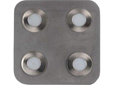 SPOT Light,Deckenleuchte COOL 0, 4 -flg. /, H:3,5 cm grau LED Deckenleuchten LED-Lampen und LED-Leuchten Lampen Leuchten