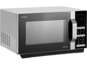 Sharp Mikrowelle R890S, Mikrowelle-Grill-Heißluft, 900 W Einheitsgröße silberfarben Haushaltsgeräte