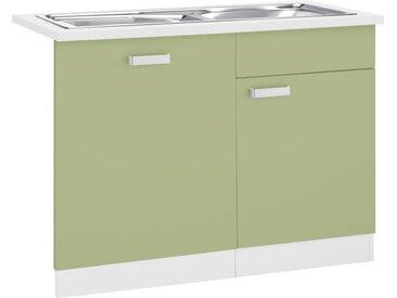 wiho Küchen Spülenschrank Husum, 110 cm breit, inkl. Tür/Sockel für Geschirrspüler x 85 60 (B H T) cm, 1-türig grün Spülenschränke Küchenschränke Küchenmöbel Schränke