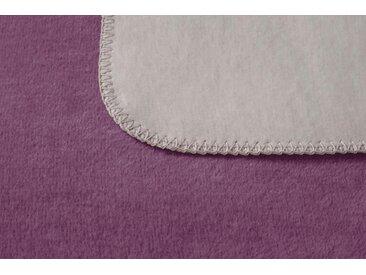 Wohndecke Duo, BIEDERLACK 150x200 cm, Baumwolle-Kunstfaser lila Baumwolldecken Decken Wohndecken
