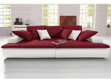 Nova Via Big-Sofa, wahlweise mit Kaltschaum (140kg Belastung/Sitz) und RGB-LED-Beleuchtung B/H/T: 300 cm x 85 142 cm, Kunstleder SOFTLUX®-Struktur, ohne Beleuchtung weiß Big Sofas XXL Couches Big-Sofa