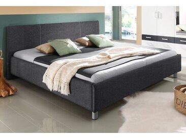 Breckle Polsterbett, mit 2 Matratzenausführungen Struktur, 140x200 cm, ohne Matratze, nur Bettgestell grau Doppelbetten Betten