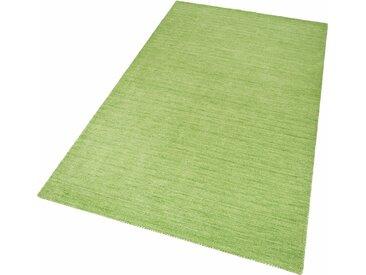 Theko Exklusiv Wollteppich Gabbeh uni, rechteckig, 15 mm Höhe, reine Wolle, Wohnzimmer 1, 60x90 cm, grün Schlafzimmerteppiche Teppiche nach Räumen