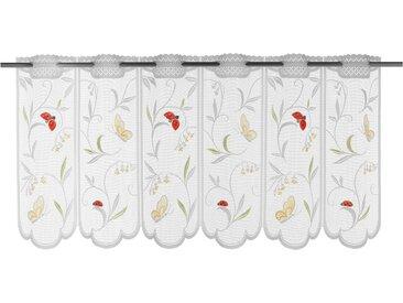WILLKOMMEN ZUHAUSE by ALBANI GROUP Panneaux Schmetterling, Jacquard-Lamellen-Pannaux 28 cm, Stangendurchzug, 122 cm weiß Wohnzimmergardinen Gardinen nach Räumen Vorhänge