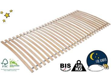 Rollrost, Kid plus, Lüttenhütt, Kopfteil nicht verstellbar verstellbar, 1x 80x200 cm, bis 120 kg Lattenrost für Übergewichtige Lattenroste Matratzen und