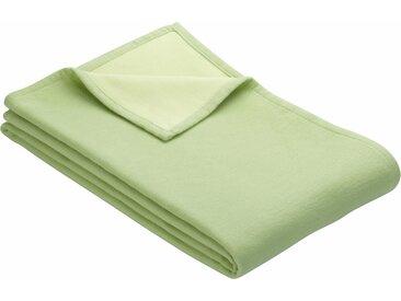 IBENA Wohndecke Cotton Pur, mit Wendemöglichkeit B/L: 140 cm x 200 grün Baumwolldecken Decken