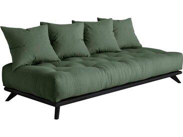 Karup Design Daybett Senza Daybed, mit Holzstruktur Baumwollmix, Liegefläche B/L: 90 cm x 200 Betthöhe: 85 cm, kein Härtegrad, Futonmatratze grün Einzelbetten Betten