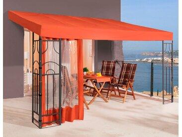 Quick Star Anbaupavillon Romana, BxT: 300x400 cm B/H/T: 300 x 266 400 orange Pavillons Garten Balkon