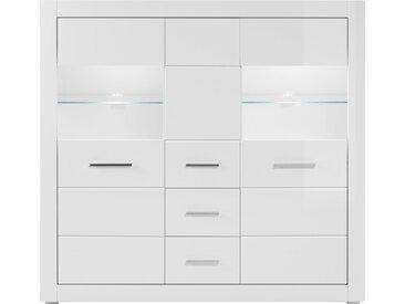 INOSIGN Highboard BIANCO, Breite 149 cm B/H/T: x 142 42 cm, Anzahl Schubladen: 2 weiß Highboards Kommoden Sideboards