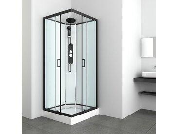 Sanotechnik Komplettdusche EPIC 2 B: 90 cm schwarz Duschkabinen Duschen Bad Sanitär