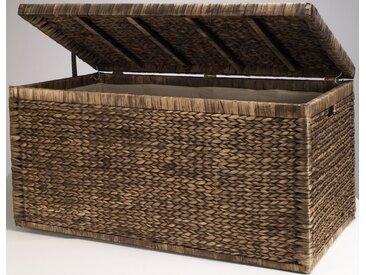 Home affaire Truhe, innen mit Baumwolle bespannt B/H/T: 110 cm x 55 57 braun Truhe
