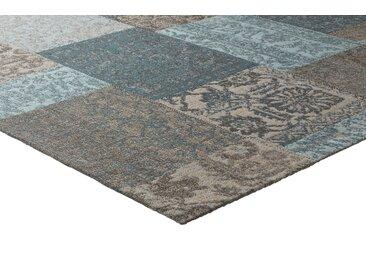 Teppich Patchwork Design 5, ca. 160/230 cm blau Moderne Teppiche