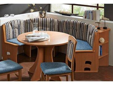 SCHÖSSWENDER Rundbank Webstoff, Langer Schenkel rechts, 131cm blau Essbänke Sitzbänke Stühle