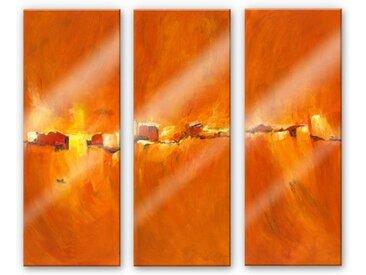 Wall-Art Mehrteilige Bilder Herbst Sonne (3-teilig), (Set, 3 St.) B/H/T: 40 cm x 0,4 100 bunt Bilderrahmen Wohnaccessoires