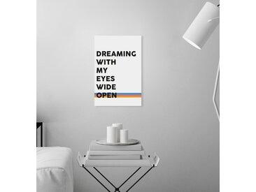 queence Leinwandbild Spruch Dreaming 80x120 cm bunt Leinwandbilder Bilder Bilderrahmen Wohnaccessoires