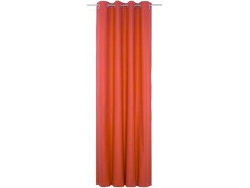 Vorhang, WirthNatur, Wirth, Ösen 1 Stück 5, H/B: 260/130 cm, blickdicht / energiesparend, rot Blickdichte Vorhänge Gardinen Gardine