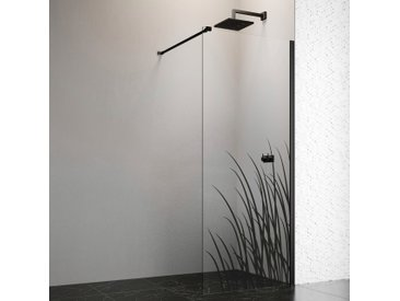 welltime by GEO Walk-in-Dusche, 100 cm, schwarz Einheitsgröße Duschwände Duschen Bad Sanitär