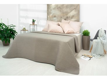 SEI Design Tagesdecke Living Trend B/L: 260 cm x 240 grau Kunstfaserdecken Decken