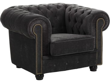 Max Winzer Chesterfield-Sessel Rover, mit edler Knopfheftung B/H/T: 110 cm x 75 96 grau Chesterfield Sessel