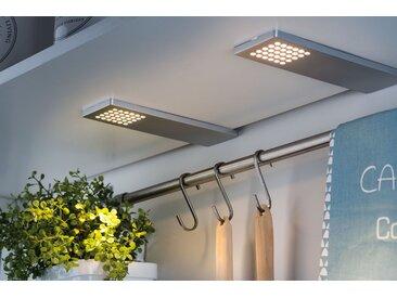 Paulmann,Unterschrankleuchte Möbelaufbauleuchten-Set Pattern LED Chrom matt, 3er Set 0, 3 -flg. /, H:0,7 cm silberfarben Schrankleuchten Möbelleuchten Lampen Leuchten