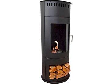 GLOW FIRE Echtfeuer-Dekokamin Bergen H: 112,5 cm schwarz Ethanol-Kamine Heizen Klima