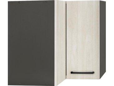 wiho Küchen Eckhängeschrank Esbo 60 x 56,5 35 (B H T) cm, 2-türig weiß Hängeschränke Küchenschränke Küchenmöbel Schränke