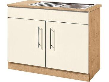 wiho Küchen Spülenschrank Aachen B/H/T: 100 cm x 85 60 cm, 2 gelb Spülenschränke Küchenschränke Küchenmöbel