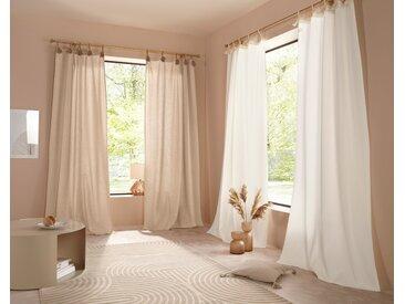 LeGer Home by Lena Gercke Gardine Jada 145 cm, Schlaufen, 110 cm beige Blickdichte Vorhänge Gardinen