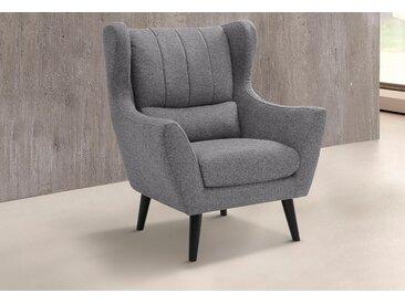 Guido Maria Kretschmer Home&Living Loungesessel Valga Struktur grau Sessel Hocker SOFORT LIEFERBARE Möbel