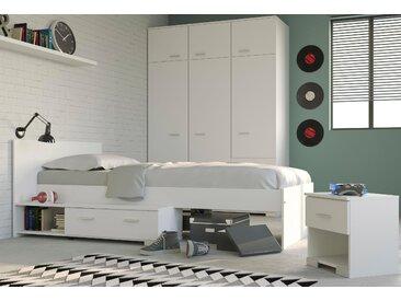 Parisot Jugendzimmer-Set Galaxy (Set, 3-tlg) Einheitsgröße weiß Kinder Komplett-Jugendzimmer Jugendmöbel Kindermöbel Schlafzimmermöbel-Sets
