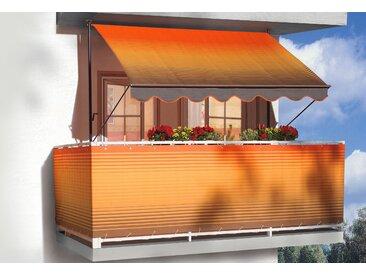 Angerer Freizeitmöbel Klemmmarkise, orange-braun, Ausfall: 150 cm, versch. Breiten 400 cm orange Klemm-Markisen Markisen Garten Balkon Klemmmarkise