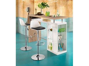 HMW Collection Tresentisch Country, Breite 157 cm Einheitsgröße weiß Bartische, Theken Tresen Barmöbel Küchenmöbel