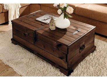 Home affaire Couchtisch Valencia, mit großzügigem Stauraum B/H/T: 110 cm x 39 72 braun Truhen-Couchtische Couchtische Tische