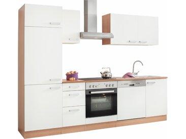 OPTIFIT Küchenzeile Odense, ohne E-Geräte, Breite 270 cm, mit 28 mm starker Arbeitsplatte, Gratis Besteckeinsatz B: cm weiß Küchenzeilen Geräte -blöcke Küchenmöbel