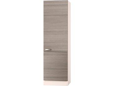 OPTIFIT Hochschrank Vigo, Breite 60 cm B/H/T: x 206,8 57,1 cm, Türen verlascht, 2 beige Vorratsschränke Küchenschränke Küchenmöbel