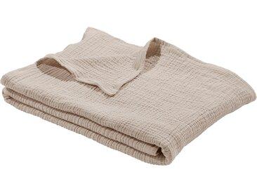 Wohndecke Hevin, LeGer Home by Lena Gercke 140x210 cm, Baumwolle beige Baumwolldecken Decken Wohndecken