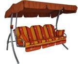 Angerer Freizeitmöbel Hollywoodschaukel Ibiza, inkl. Auflagen und Zierkissen Einheitsgröße orange Hollywoodschaukeln Gartenmöbel Gartendeko