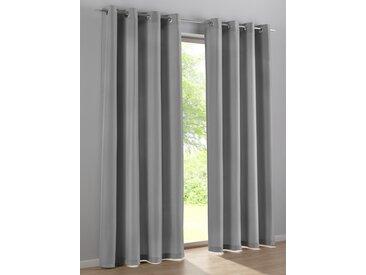 Dekoschal 2er-Set 6, ca. 295/140 cm, mit Ösen grau Blickdichte Vorhänge Gardinen