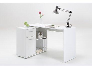 FMD Eckschreibtisch ALBRECHT B/H/T: 117 cm x 73,5 50 weiß Eckschreibtische Bürotische und Schreibtische Büromöbel