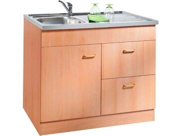 HELD MÖBEL Spülenschrank Elster, Breite 100 cm B/H/T: x 85 50 cm, 1 weiß Spülenschränke Küchenschränke Küchenmöbel
