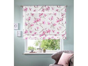 my home Bändchenrollo Orchidee, mit Stangendurchzug 140 cm, Stangendurchzug, cm rosa Wohnzimmergardinen Gardinen nach Räumen Vorhänge