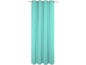 Vorhang, Peschiera, Wirth, Ösen 1 Stück 5, H/B: 255/132 cm, blickdicht, grün Blickdichte Vorhänge Gardinen Gardine