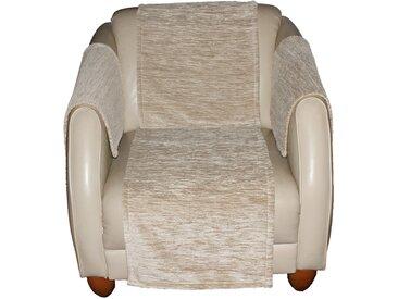 Sofaläufer, Miriam, Wirth, rechteckig, Höhe 5 mm 4, 50x150 cm, beige Sesselschoner Hussen Überwürfe Teppiche