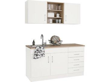 HELD MÖBEL Küchenzeile Mali, ohne E-Geräte, Breite 150 cm Einheitsgröße weiß Küchenzeilen Geräte -blöcke Küchenmöbel Arbeitsmöbel-Sets