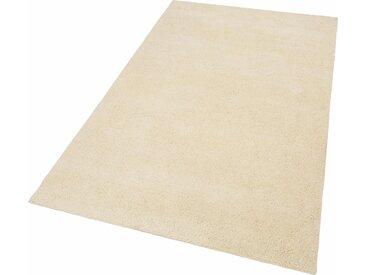 THEKO Wollteppich Hadj Uni, rechteckig, 25 mm Höhe, echter Berber, reine Wolle, handgeknüpft, Wohnzimmer B/L: 140 cm x 200 cm, 1 St. beige Esszimmerteppiche Teppiche nach Räumen