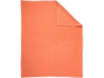 BIEDERLACK Wohndecke B/L: 220 cm x 240 orange Baumwolldecken Decken