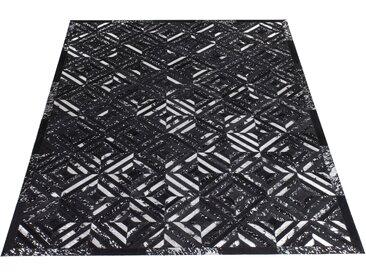 Lederteppich, Faris, Leonique, rechteckig, Höhe 8 mm, handgewebt