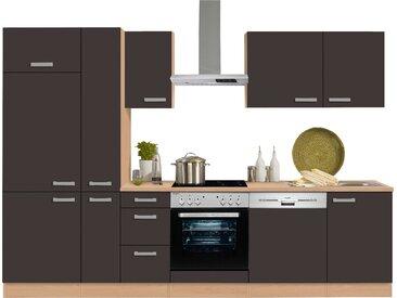 OPTIFIT Küchenzeile Odense, ohne E-Geräte, Breite 300 cm mit 28 mm starker Arbeitsplatte, Gratis Besteckeinsatz Einheitsgröße grau Küchenzeilen Geräte -blöcke Küchenmöbel Arbeitsmöbel-Sets