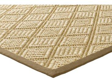 Sisalteppich Jaquard gewebt 6, ca. 200/300 cm braun Schlafzimmerteppiche Teppiche nach Räumen